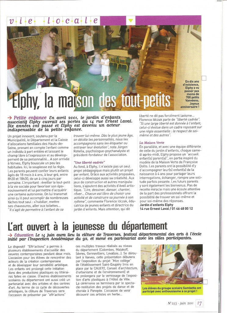 Article Vanves Info elphy Juin 2011